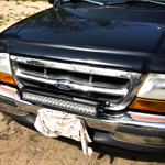 Auxbeam light bar installation on a Ford Ranger with plans and video